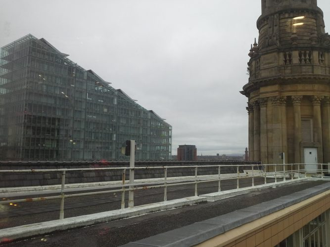 Manchester Royal Exchange roof terrace before refurbishment